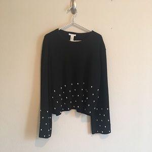 H&M Black Pearl Sweater